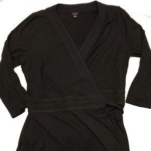 Ann Taylor Black Wrap Dress, Size 12